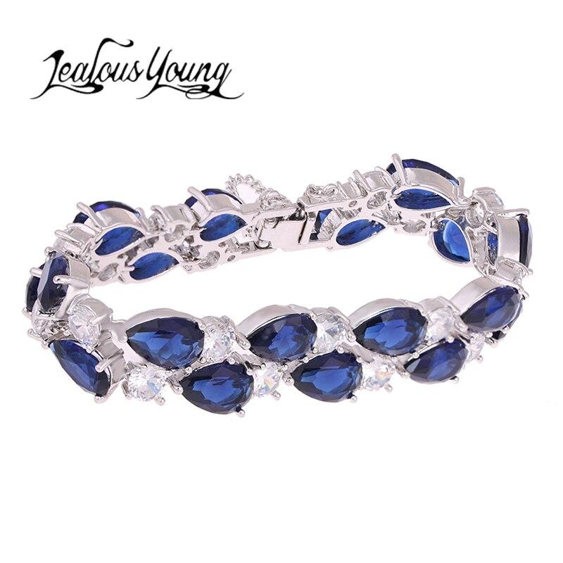 New White Rose Gold Color Mona Lisa Bracelets Bangles with Multicolor Zircon Fashion Jewelry for Women Friendship Charm Bracelet