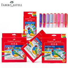 hot deal buy faber castell arts oil pastels art tools 12/24/36/48 bright color crayons hexagonal oil paint sticks drawing school supplies