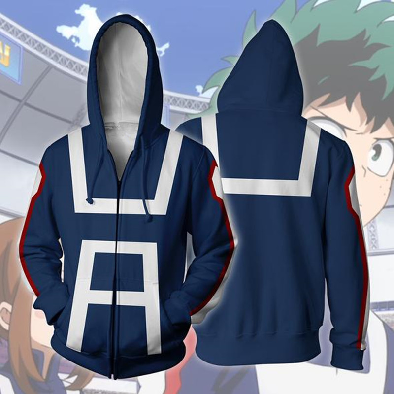 My Boku no Hero Academia Hoodie Kohei Horikoshi gym Sweatshirt Jacket +Track