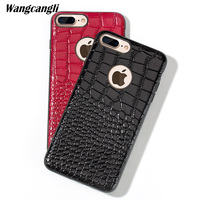 Business high end leather cowhide lizard all inclusive soft shell For iphone 7 PLUS phone case lizard all inclusive soft shell