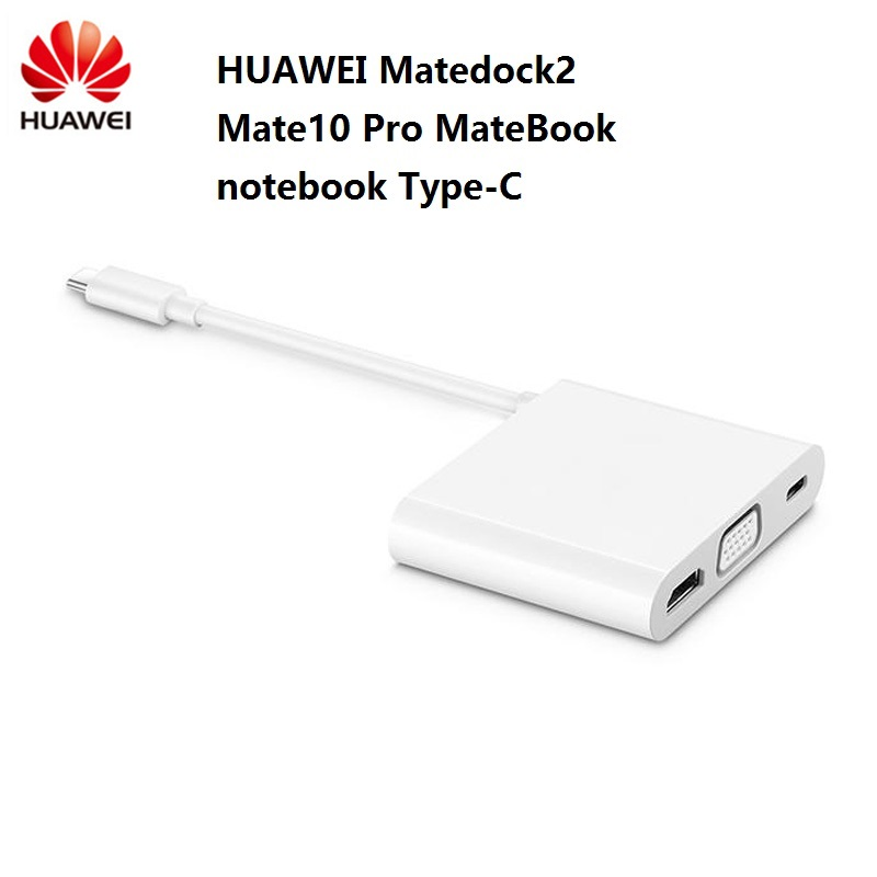 Original HUAWEI MateDock 2 dock For Mate10 Pro MateBook D X X Pro E notebook Type C converter MateDock 2 brand new-in Laptop Docking Stations from Computer & Office    1