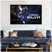 2018 PSG Canvas Painting Decoration Thiago Silva Posters And Prints Wall Pictures Football Club Home decor For Living Room(China)