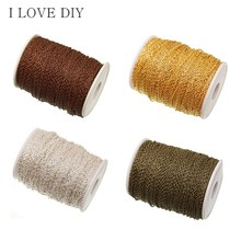 5m/lot Silver Plated Cable Link Chain Findings Brass Chain Copper for DIY Necklace Bracelets Making