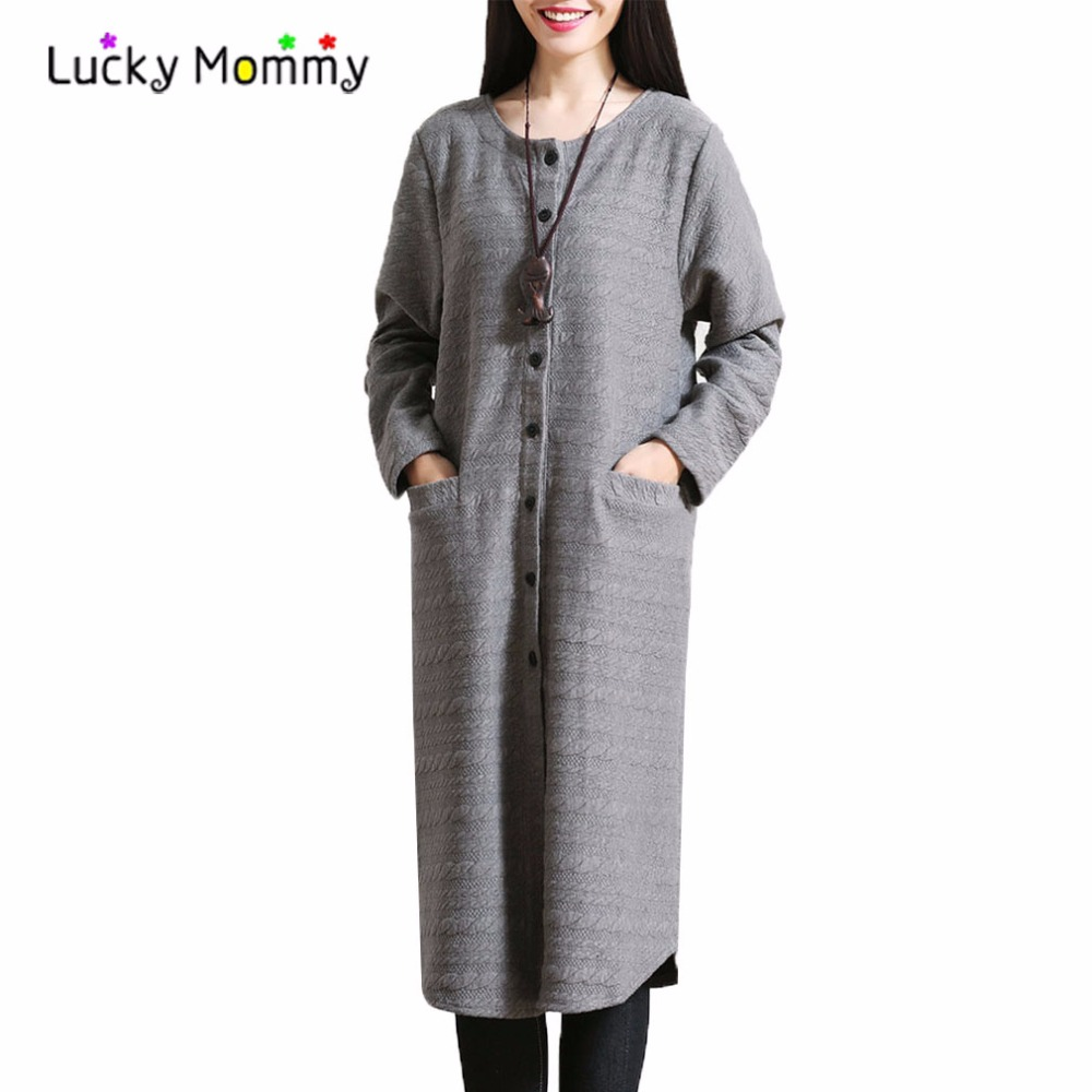 c3e6f6a7e4e Winter New Maternity Coat Female Jacket Coats Loose Casual Outerwear Clothes  for Pregnant Women Pregnancy Coat Jackets M XXL-in Coats from Mother   Kids