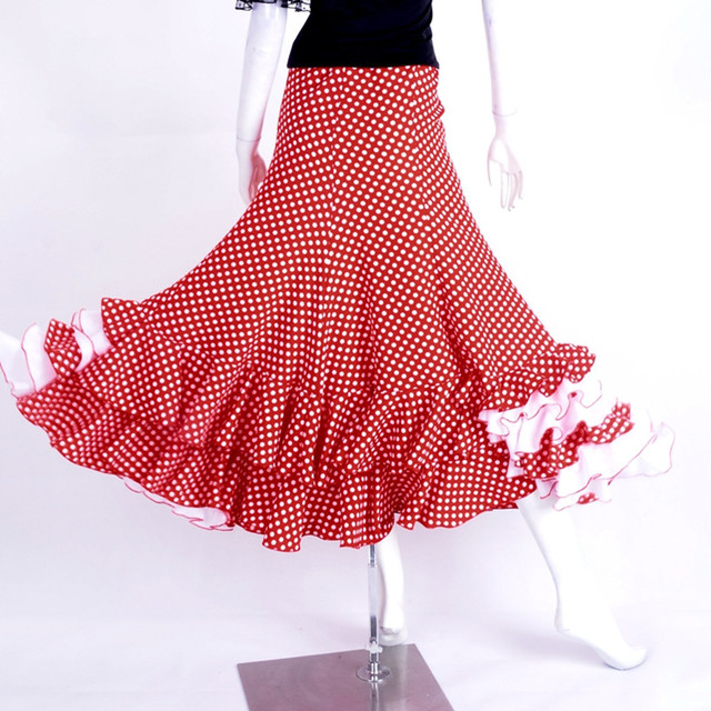 Robe flamenco rouge et blanc