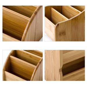 Image 4 - Ahşap kalem sahipleri masaüstü masaüstü düzenleyici saklama kutusu masa için ofis malzemeleri