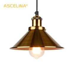Luz pingente industrial lâmpada casa luminárias pingente do vintage lâmpada sótão pendurado retro pendurado luzes de ouro