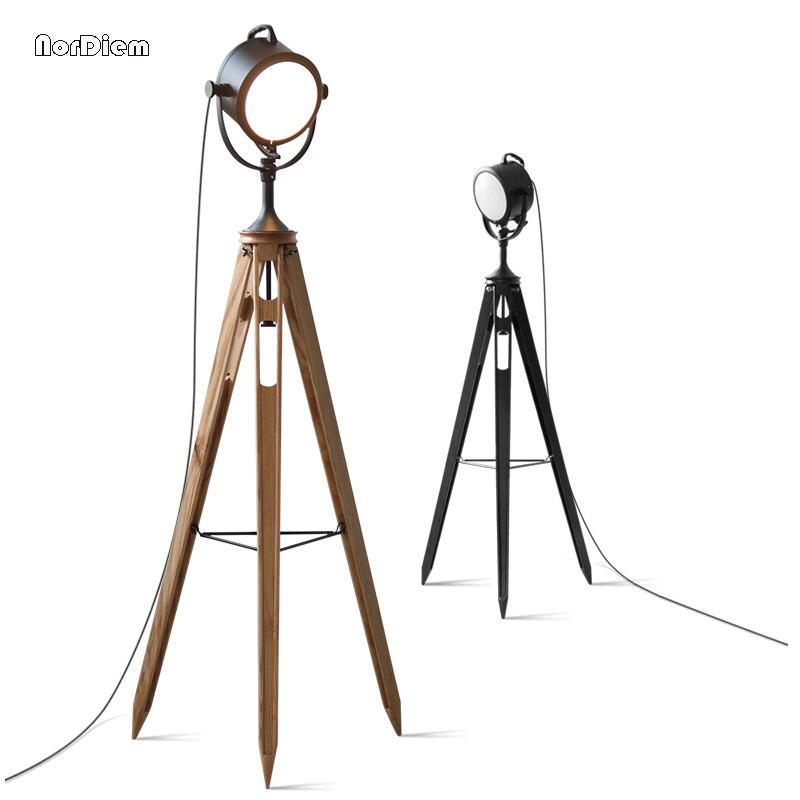 Винтаж Торшеры Лофт машиностроения торшер штатив лампы для Гостиная Ретро прожектор лампа светильник E14
