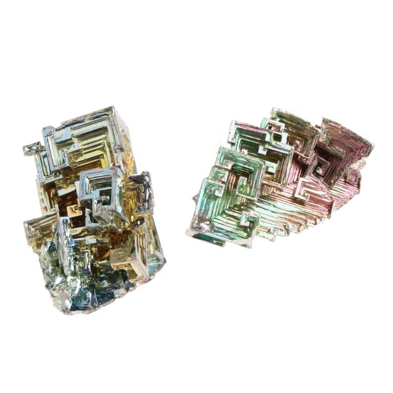 New High quality Rainbow Bismuth Crystals 20g/50g Metal Mineral Specimen bismuth crystals 50g bismuth metal crystal