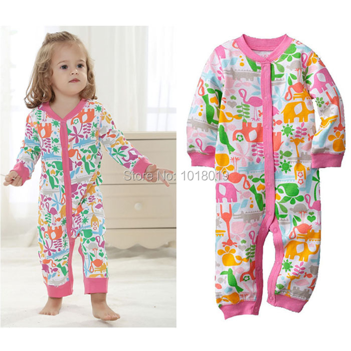 3M~12M, New 2017 Branded Quality 100% Cotton Ropa Bebe Newborn Baby Girl Clothing Clothes Creepers Jumpsuit Rompers Long Sleeve