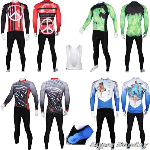 Winter Fleece Cycling Jersey Spring Sports Clothings Long Sleeve Bike Jerseys with Gel Autumn Riding Wear Free Shipping scoyco motorcycle riding knee protector extreme sports knee pads bycle cycling bike racing tactal skate protective ear