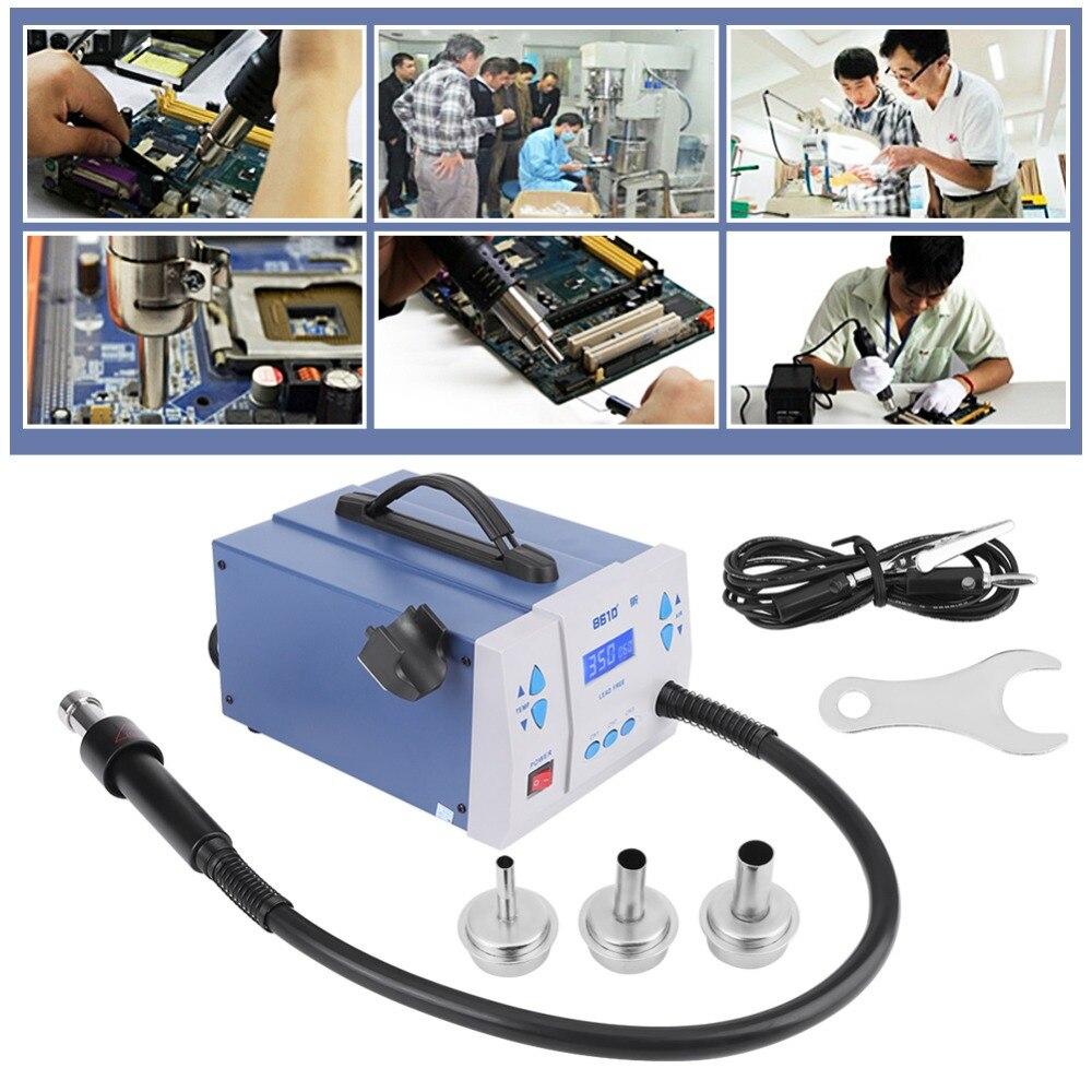 цена на Auto Sleeping 1000W 3 Channels Soldering Heat Gun Desoldering Station Hot Air Rework Gun Tool 110V-220V Power Supply for Shrink