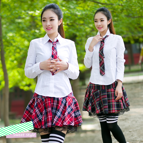45f3eb069c8 high school students summer uniforms school skirt suit Korean students  class service sailor suit theatrical costumes
