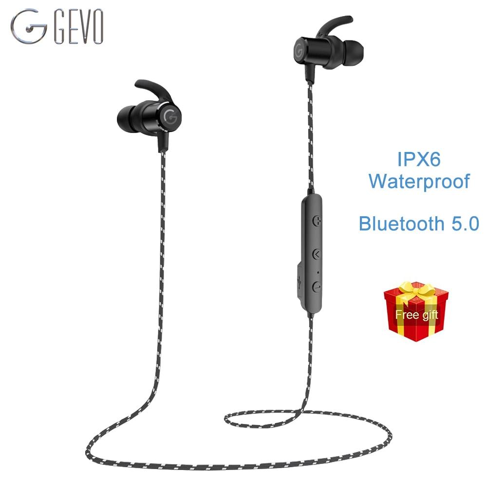 GEVO GV-18BT Simsiz Qulaqlıq Bluetooth Sport Mikrofon Maqnit Qulaqlıqları olan IPX6 Su keçirməyən qulaqlıq