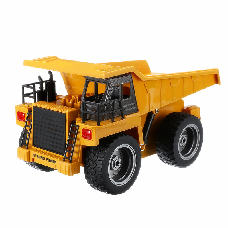 28x20x16cm 6 Channel Child Remote Dump Truck Truck Toy 2.4G Electric Dump Truck Engineering Truck Toy Fun Gift|RC Trucks| |  - title=