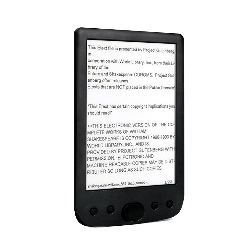 NEW 6 inch 800x600 Electronic B ook Reader HD E Ink Easy to read 8GB digital