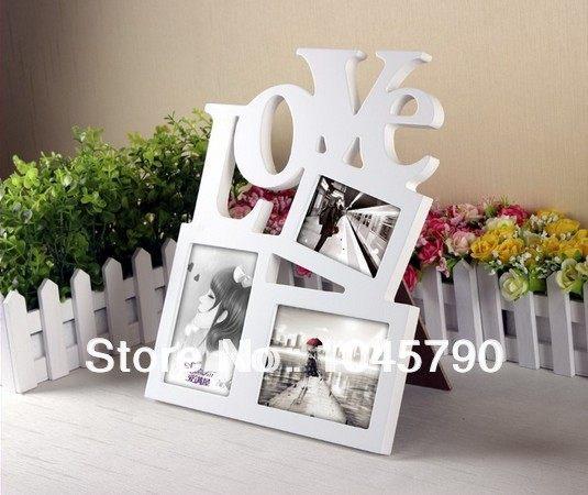 Online Shop Free Shipping 1X White Desktop Letter Box Love Photo ...