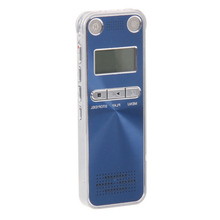 High Quality Telephone Voice Recorder Professional Blue 8GB USB Rechargeable Digital Portable Recorder with MP3 player/WAV/WMA