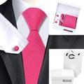 B-1136 Hombres Corbatas Rose Red Novedad Seda Corbata Hanky Gemelos Caja de Regalo Conjunto de Bolsas Populares Lazos Para Los Hombres de Negocios de La Boda