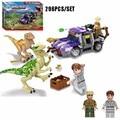 Jurassic World Raptors Dinosaur Hunting Model Building Blocks Raptor Spinosaurus Dinosaurs Ation Figure Brick Toys For Kids Gift
