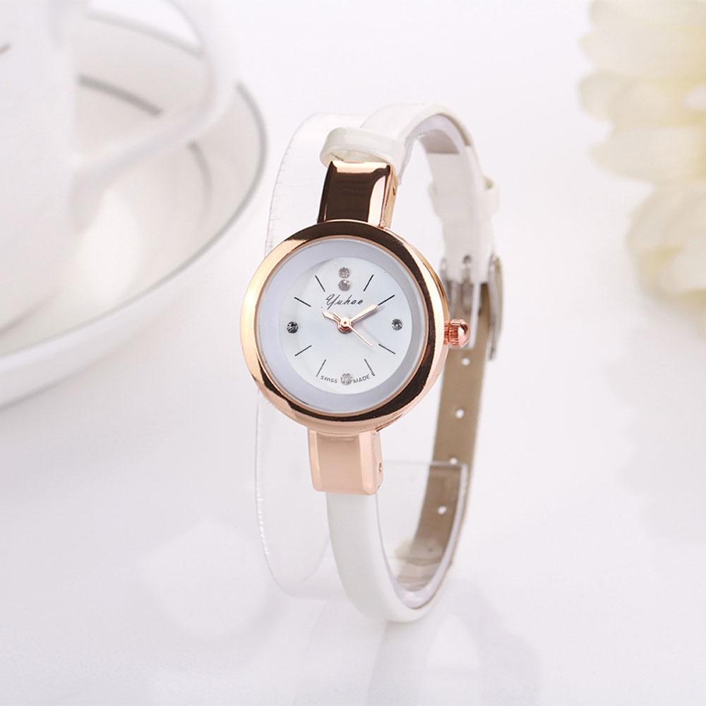 HOT Retro Black Women Watches Small Mini Elegant Ladies Wristwatch Fine Narrow Strap Watch For Female Girls Clock Reloj Mujer #A