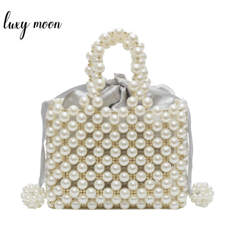 Luxury Brand Design Hand-woven Pearl Bags Women Evening Party Handbag Beaded Tote Bags Elegant Ladies Dress Bags Bridal BolsaLuxury Brand Design Hand-woven Pearl Bags Women Evening Party Handbag Beaded Tote Bags Elegant Ladies Dress Bags Bridal Bolsa