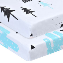 100% Cotton Crib Fitted Sheet Soft Baby Bed Mattress Cover Protector Cartoon Newborn Bedding For Cot Size 130*70cm(China)