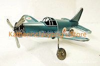Free Shipping Antique Collection Finishing Retro Airplane Model Handmade Vintage Airplane Iron Metal Craft Home Pub