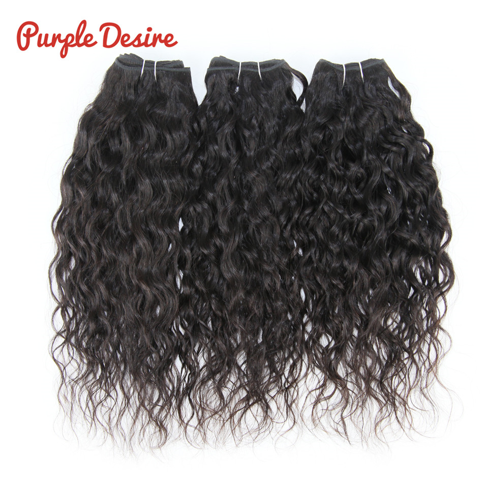 Water Wave Hair Remy Hair Weave Indian Human Hair Extensions 3 Bundles 8 30inch Natural Color