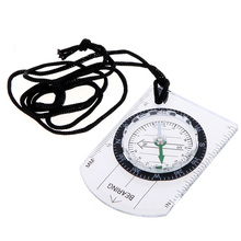 SEWS Mini Baseplate Compass Portable Plastic Compass Outdoor Hiking Climbing Camping Compass Professional Travel Kits