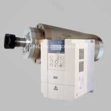3kw D105mm Woodworking CNC engraving spindle motor AC220V/AC380V with 4 bearings & 4kw BEST VFD Inverter стоимость