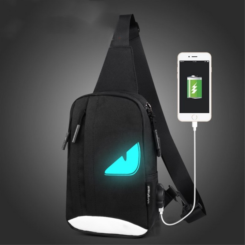 Night light Casual Women Men's Backpack USB charger Anime Luminous Teenagers Men Student Cartoon School Bags Travel Rucksack zelda laptop backpack bags cosplay link hyrule anime casual backpack teenagers men women s student school bags travel bag page 2