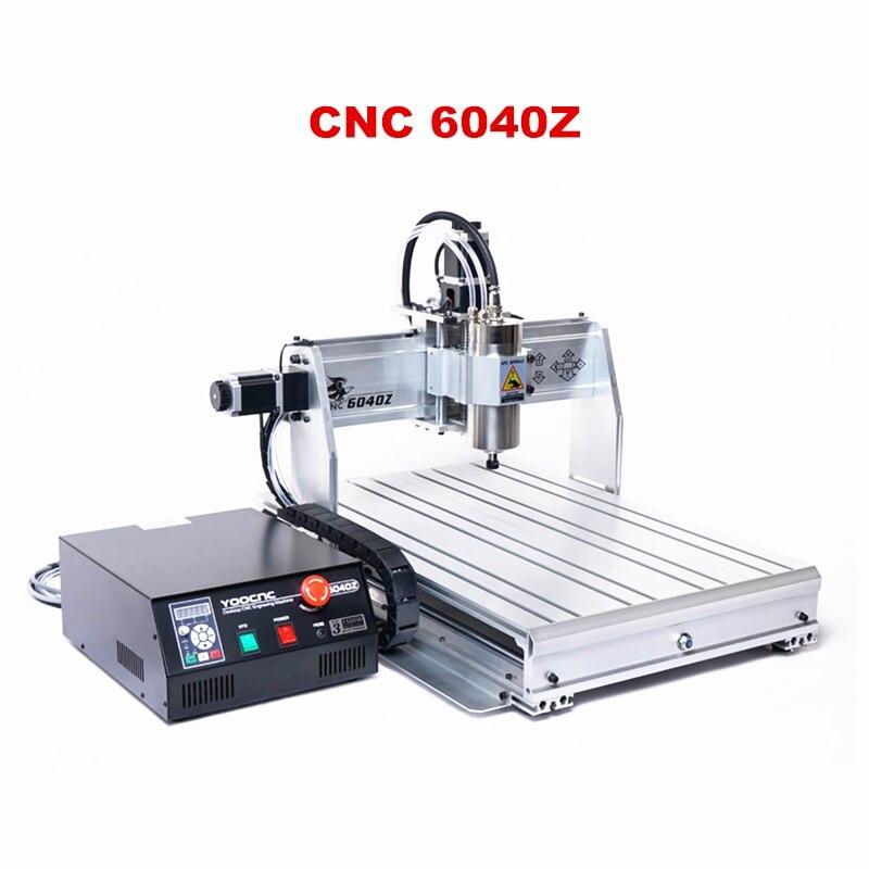 Machine de gravure de CNC de bureau YOO CNC 6040Z 2200 W pour le travail en aluminium en métal en bois de carte PCB d'abs de PVC