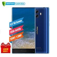 Pré-vente Ulefone Mix 13MP Double Caméra Mobile Téléphone 5.5 pouce MTK6750T Octa base Android 7.0 4 GB + 64 GB D'empreintes Digitales 4G Smartphone