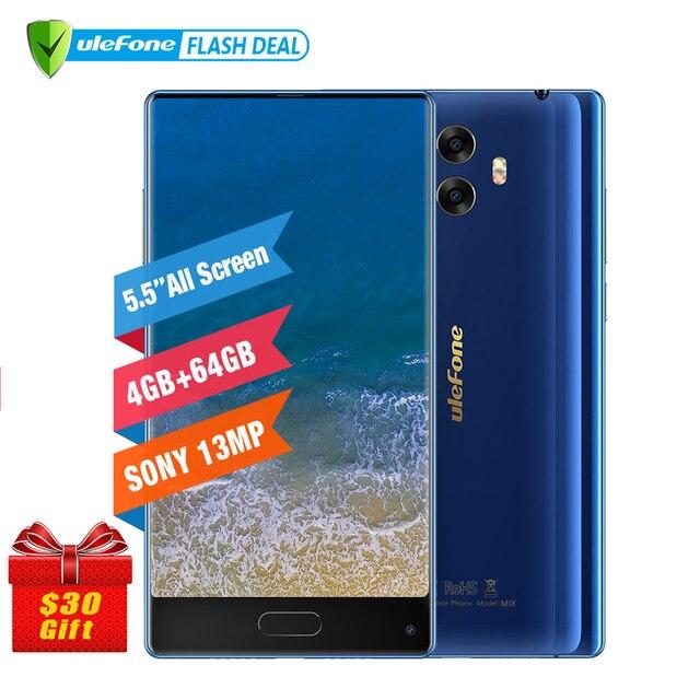 Pre-sale Ulefone Mix 13MP Dual Camera Mobile Phone 5.5 inch MTK6750T Octa Core Android 7.0 4GB+64GB Fingerprint 4G Smartphone