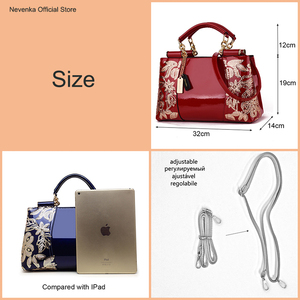 Image 2 - Nevenka Embroidery Women Bag Leather Purses and Handbags Luxury Shoulder Bags Female Bags for Women 2019