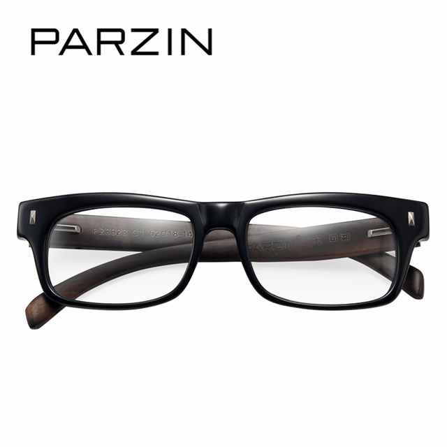 PARZIN Classic Square Myopia Glasses Frames With Clear Lenses ...