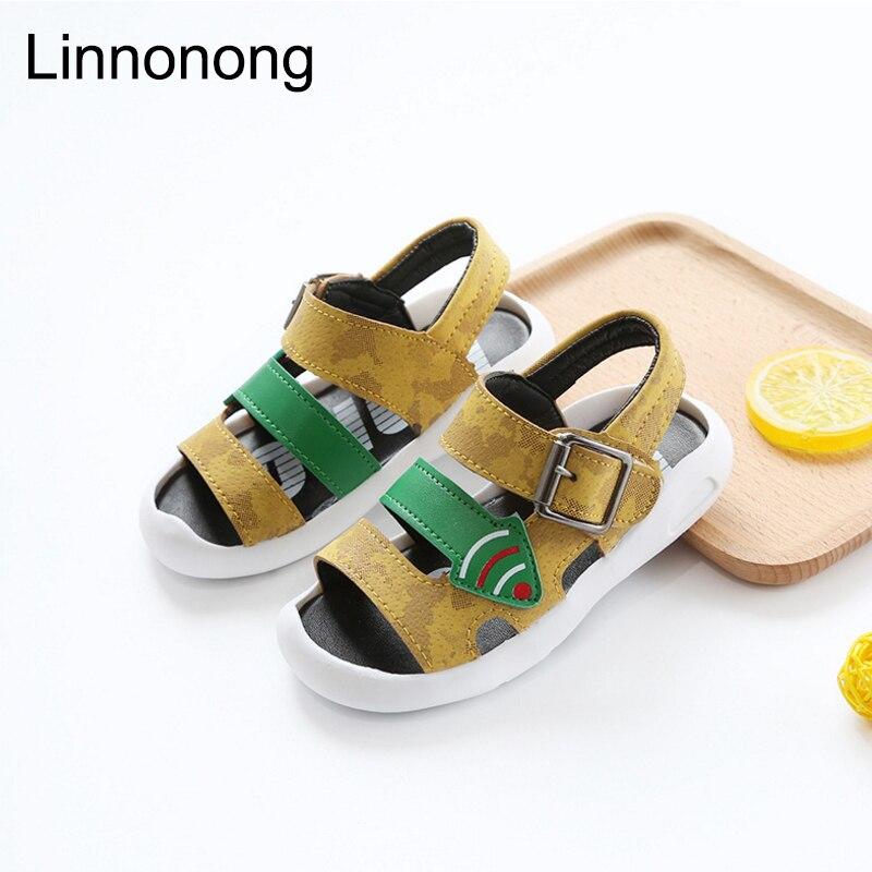 Linnonong New 2017 Children Summer Sandals Kids Fashion Boys Girls Antislip Beach Sandals Little baby Toddler Shoes