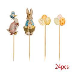 Пасхальный кролик торт кекс топперы кролик утка яйцо вечерние поставки малыш 24 шт. выбирает