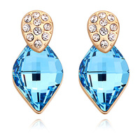 Unique New Arrival Jewelry Top Quality Gold Plated Crystals From Swarovski Stud Earrings For Women Wedding