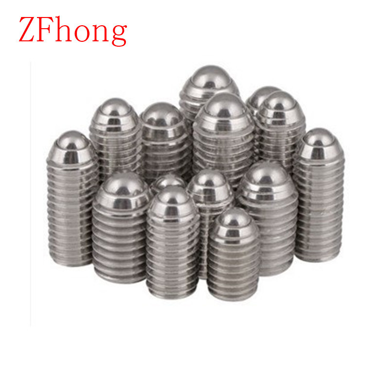Pack of 5 Uxcell a14090300ux0150-DM Metal Thread Hex Socket Head Spring Ball Plunger 3 mm x 6 mm Size