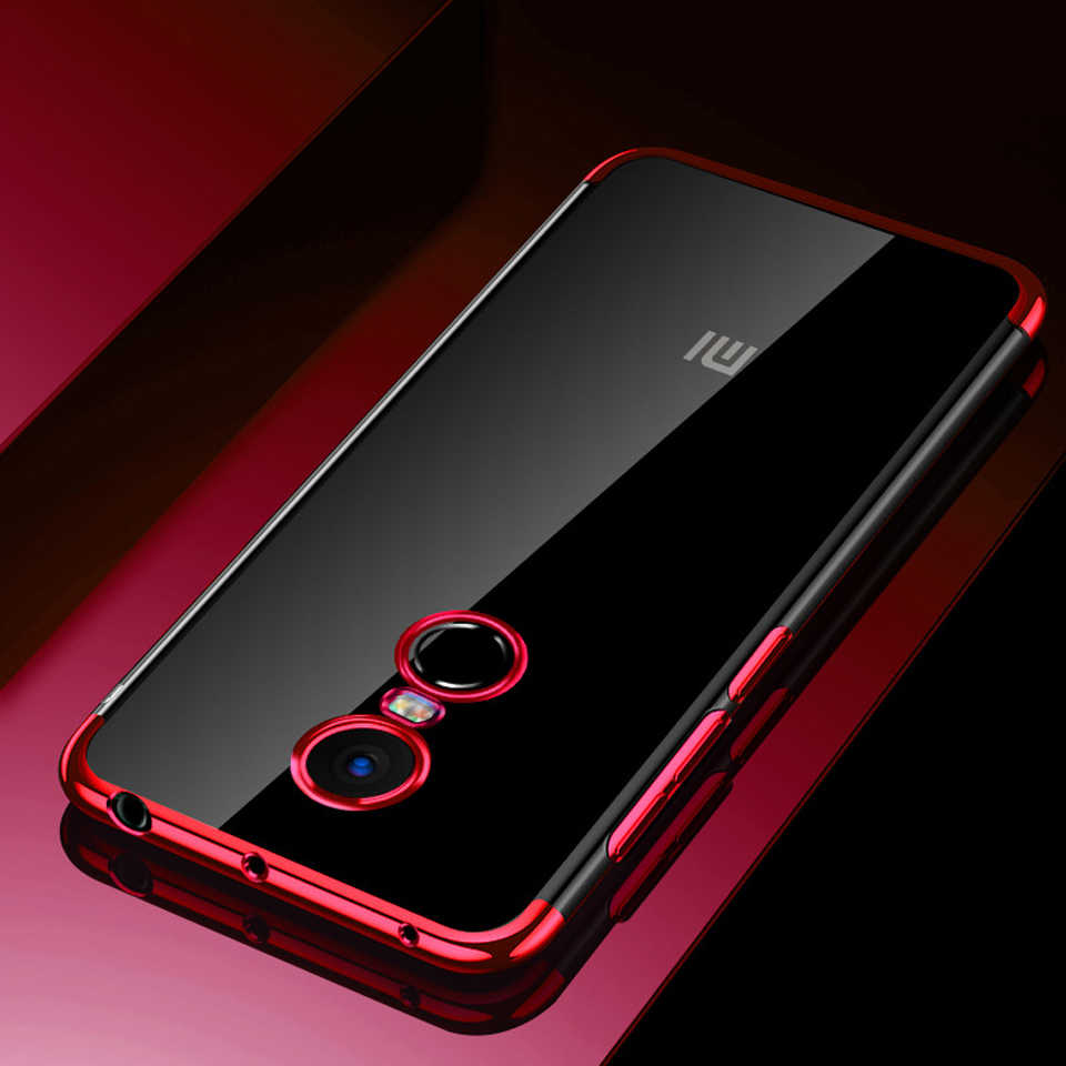 Slim Plating Case For XiaoMi RedMi Note 4 Glitter Silicone Case 4X 5A 6A 5  Plus 6 Pro 6X 5X A1 A2 8 Lite F1 Cover Bling Cases