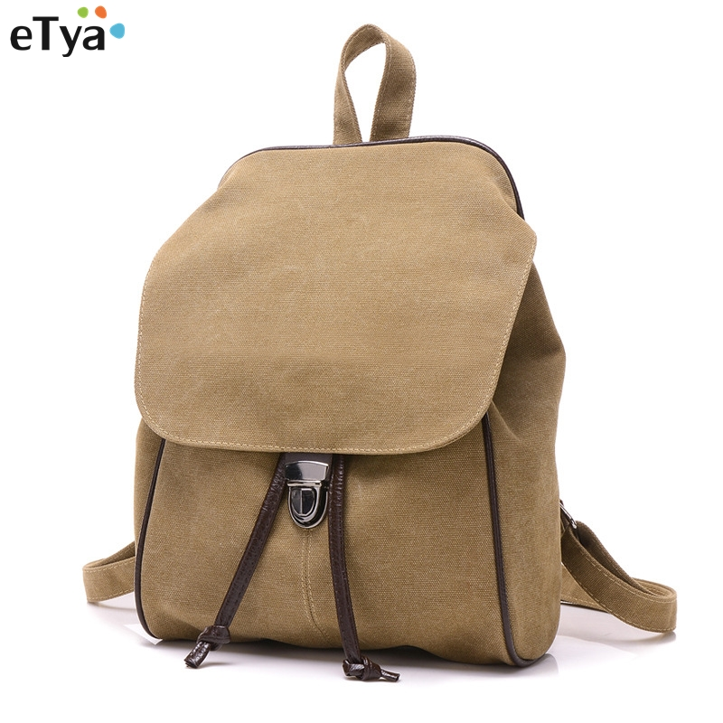 Fashion Backpack Women casual canvas backpacks for teenage girls Student school retro Travel Shoulder Bags With