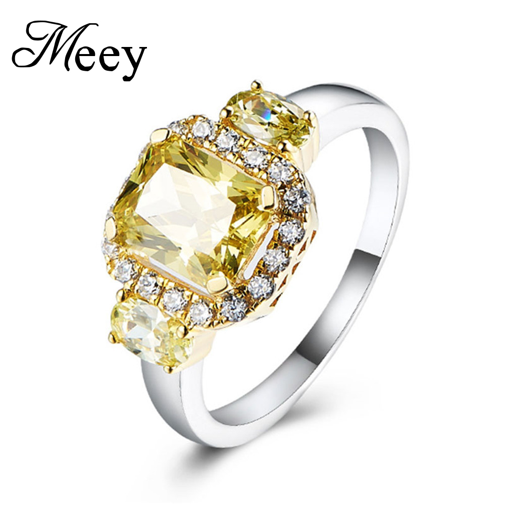 925 Sterling Silver Citrine Gemstone Ring Silver Jewlery
