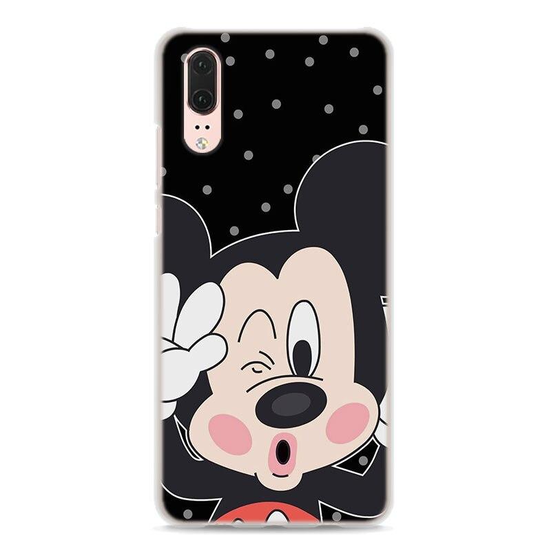 Für Huawei P20 Lite mickey Minnie Maus Cartoon stil klar rahmen ...