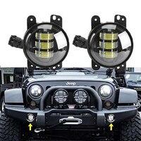 2PCS 4 LED Fog Lights Headlights 4 Inch Round 30W Front Bumper LED Fog Light Assembly