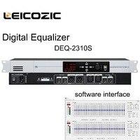 Leicozic DEQ 2310S Digital Equalizer dual 31 bands EQ with PC software control equalizador de audio prfofessional dj music pro