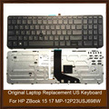 Original Laptop Replacement US Keyboard For HP ZBook 15 17 MP-12P23USJ698W Keyboard Tested Well