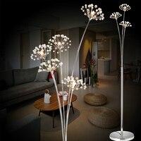 New Modern Crystal Floor Lamp For Living Room Flower Decorative LED Steel Standing Lamps Bedroom classic light By Italy Designer