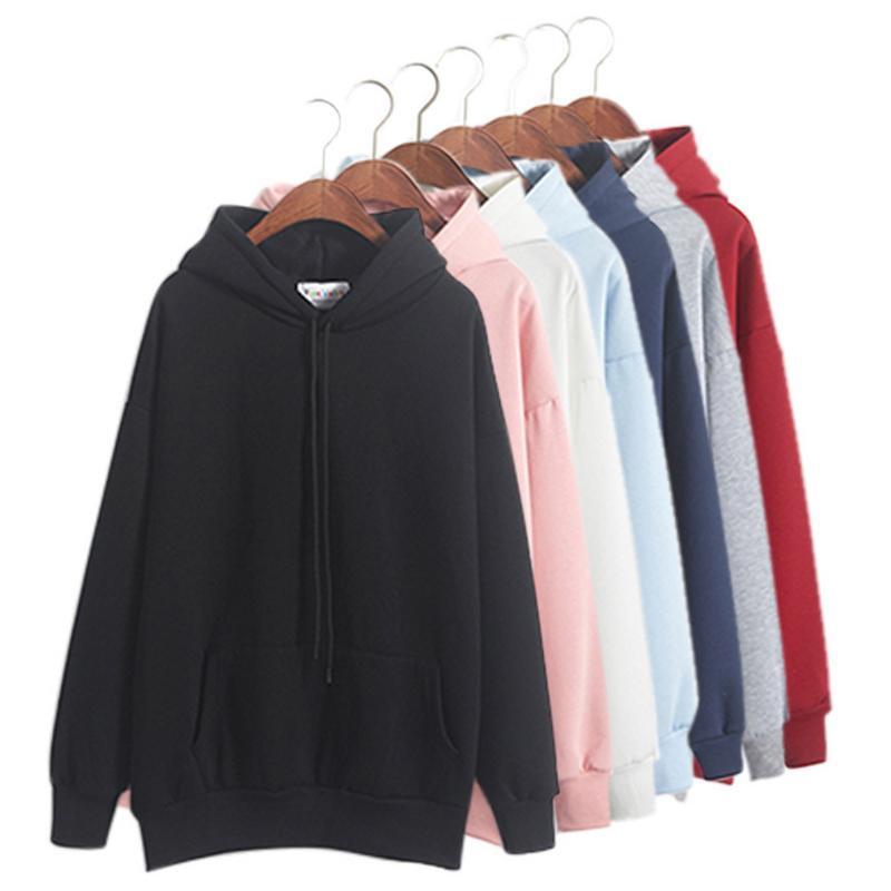Fleece Sweatshirts Women Pink Women's Gown With A Hood Hoodies Ladies Long Sleeve Casual Hooded Pullover Clothes Sweatshirt(China)